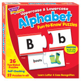 Uppercase & Lowercase Alphabet Fun-to-Know¨ Puzzles