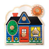 """First Shapes Jumbo Knob Puzzle, 12"""" x 12"""", 5 Pieces"""