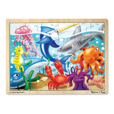 """Under the Sea Wooden Jigsaw Puzzle, 12"""" x 16"""", 24 Pieces"""