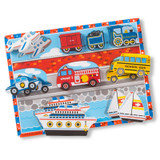 """Vehicles Chunky Puzzle, 9"""" x 12"""", 9 Pieces"""
