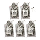 """Safety Pins 2"""", 144 Per Pack, 5 Packs"""