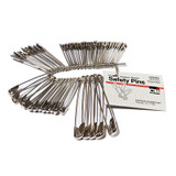 Safety Pins, Assorted Sizes, 50/Pack
