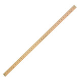 Metal Edged Yardstick Ruler, Inches and 1/8 Yard Measurements, Natural Wood, 36 Inches