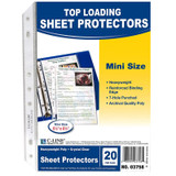 Mini-Size Top Loading Clear Poly Sheet Protectors, 20 Per Pack