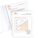 """Standard Weight Poly Sheet Protectors, Clear, Top Loading, 11"""" x 8-1/2"""", box of 100"""