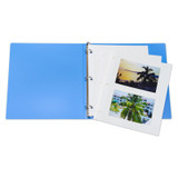 """Redi-Mount Ring Binder Photo Mounting Sheets, Clear Overlay, White Page, 11"""" x 9"""", Box of 50"""
