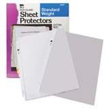 Sheet Protectors, Standard Weight, Letter Size, Non-Glare, Box of 100