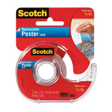 """Removable Poster Tape with Dispenser, 3/4"""" x 150"""", Clear"""