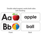 ABC Picture Words Double-Sided Magnets, 27 Pieces