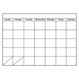 """Big Magnetic Monthly Calendar Chart, 12"""" x 15"""""""