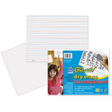 """Dry Erase Learning Sheets, Non-Adhesive, White, 3/4"""" x 3/8"""" x 1/4"""" Ruled 11"""" x 8-1/4"""", 30 Sheets"""