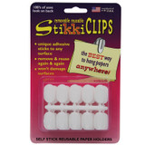 StikkiCLIPS¨, White, Pack of 30