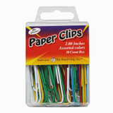 The Classics Paper Clips, 2inches, assorted colors, 30ct