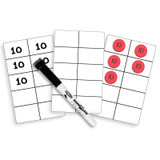 Write-On/Wipe-Off Ten-Frame Cards