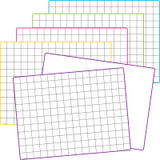 Double-Sided Math Grid Dry Erase Boards, Pack of 10