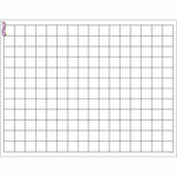 """Graphing Grid (Small Squares) Wipe-Off¨ Chart, 17"""" x 22"""""""