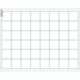 """Graphing Grid (Large Squares) Wipe-Off¨ Chart, 17"""" x 22"""""""