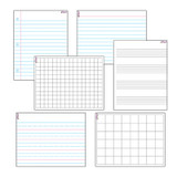 Papers & Grids Wipe-Off¨ Charts Combo Pack