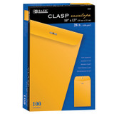 """BAZIC¬ Clasp Envelopes, 10"""" x 13"""", Pack of 100"""