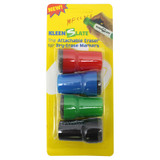 Large Barrel Attachable Eraser Caps for Dry Erase Markers, Pack of 4