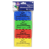 """Magnetic Chalk & Whiteboard Eraser, 4 Assorted Colors, 2-1/4"""" x 4-1/4"""", 4 Erasers"""