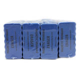 """Magnetic Whiteboard Erasers, 4"""" x 2"""" Blue, Set of 24"""