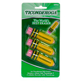 Ticonderoga¨ Pencil Shaped Erasers, Pack of 3