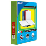 """BAZIC¬ 3-Ring View Binder with 2 Pockets, 1.5"""", Lime Geen"""