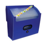 13-Pocket Ladder Expanding File, Blue