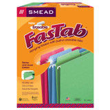 Erasable FasTab¨ Hanging File Folder, 1/3-Cut Built-In Tab, Letter Size, Assorted Colors, 18 Per Box