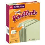 Smead Erasable FasTab¨ Hanging File Folder, 1/3-Cut Built-In Tab, Letter Size, Moss, 20 per Box