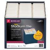 Smead Stadium¨ File, Alphabetic/ Monthly/ Daily, Household/ Blank Labels, 12 Pockets, Letter Size, Navy