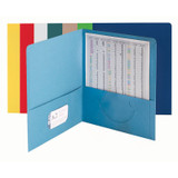 Two-Pocket Heavyweight Folder, Up to 100 Sheets, Letter Size, Assorted Colors, Pack of 25