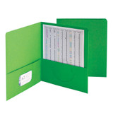 Two-Pocket Heavyweight Folder, Up to 100 Sheets, Letter Size, Green, Pack of 25