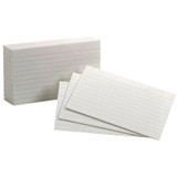 """Oxford¨ White Commercial Index Cards, 3"""" x 5"""", Ruled, 1000/pkg"""