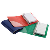 """Poly Index Card Binder, 3"""" x 5"""", Assorted Colors"""