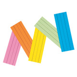 """Super Bright Flash Cards, 5 Assorted Colors, 1-1/2"""" x 3/4"""" Ruled 3"""" x 9"""", 100 Cards"""
