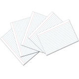 """Index Cards, White, Ruled, 1/4"""" Ruled 4"""" x 6"""", 100 Cards"""