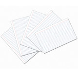 """Index Cards, White, Ruled, 1/4"""" Ruled 5"""" x 8"""", 100 Cards"""