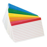 """Oxford¨ Color-Coded Index Cards, 3"""" x 5"""", 100/pkg"""