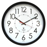 """14.5"""" Blk Electric Clock, 12.5"""" Dial, 5' Cord UL rated movement"""