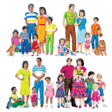 Multicultural Families Flannelboard Set, 4 Families