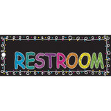 """Chalk Restroom Laminated 2-Sided Pass, 9"""" x 3.5"""""""