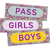 """Positively Paisley Hall Passes, 6"""" x 2"""", Set of 3"""