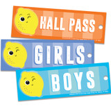 """Always Try Your Zest Hall Passes, 6"""" x 2"""""""