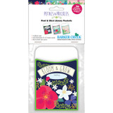 """Peel & Stick - Petals & Prickles Library Pockets, 3 1/2"""" x 5 1/8"""", Pack of 30"""