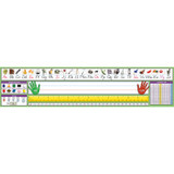 """Adhesive Primary Modern Manuscript Desk Plates, 17-1/2 x 4"""", Pack of 36"""