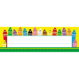 Colorful Crayons Desk Toppers¨ Name Plates, 36 ct