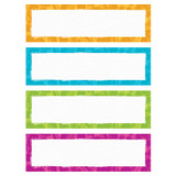 Color Harmony Paint Strokes Name Plates Variety Pack, 32 Count
