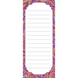 """Positively Paisley Note Pad, 3 1/2"""" x 8 1/2"""", 50 Sheets"""